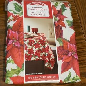 Nwt Fabric holiday fabric tablecloth